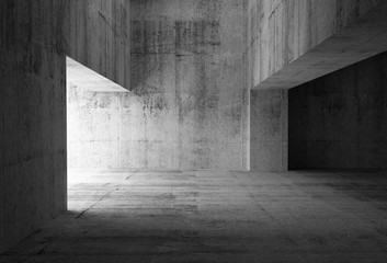 Empty dark abstract concrete room interior. 3d illustration