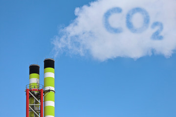 Green factory pipes with co2 emission