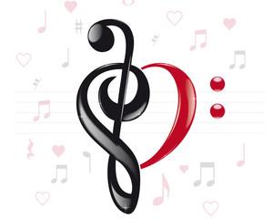 Musical heart keys