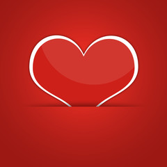 Red heart. Abstract background
