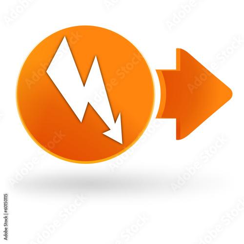 lectricit sur symbole web orange fichier vectoriel libre de droits sur la banque d 39 images. Black Bedroom Furniture Sets. Home Design Ideas