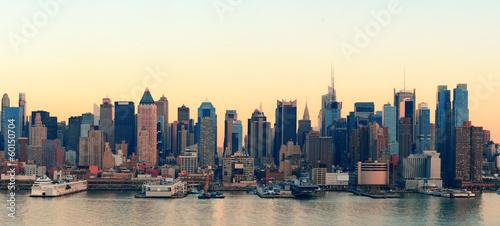 Fototapete New York City sunset