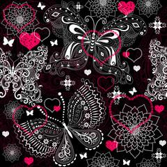 Seamless valentine lacy pattern