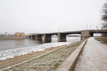 Bridge over Volga river