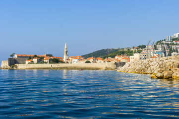 view of the old city from the sea