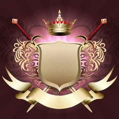 The shield with crown