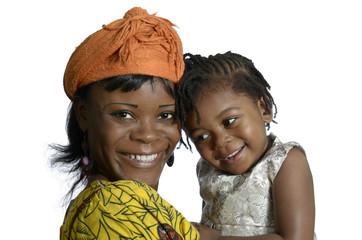 Afrikanische Frau mit Baby