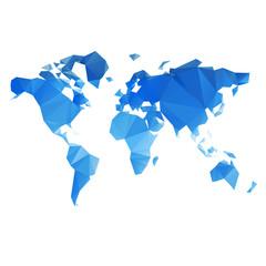 Garden Poster World Map Triangular World Map vector file