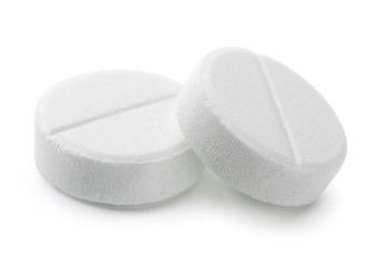 Pair of white pills