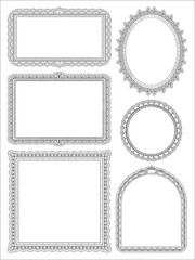 Ornate hand drawn frames two