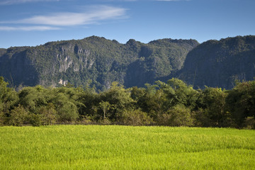 Countryside in central Laos