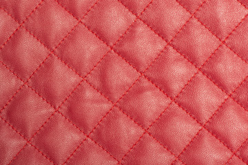Macro of red leather