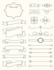 Vintage Calligraphy Design Elements Three