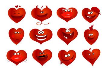 Funny hearts symbols