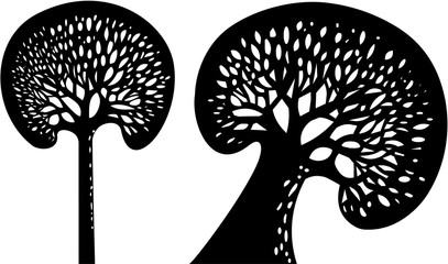 Black vector trees