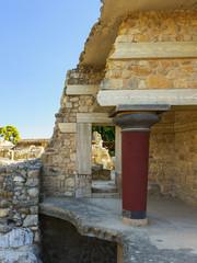 archaeological site of Knossos Palace. Crete. Greece