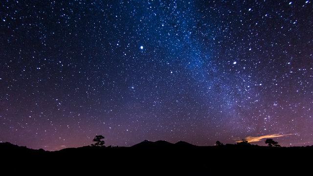 Nachtlandschaft auf Teneriffa