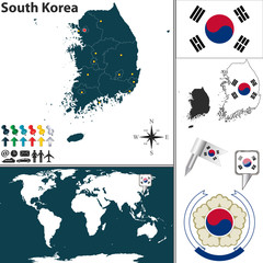 Map of South Korea