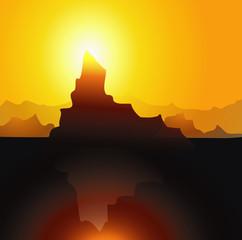 Iceberg & Sunset