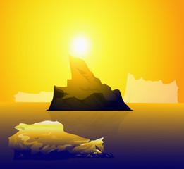 sun & iceberg-vector