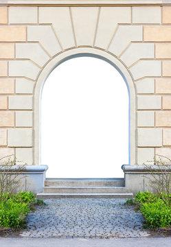 empty door Frame with steps