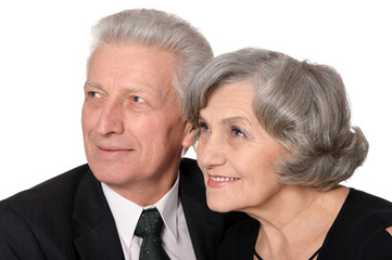 Mature businessman with a lady