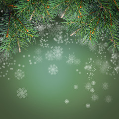Decorated Christmas tree on white background