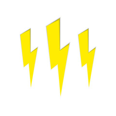 vector lightning banner on white background