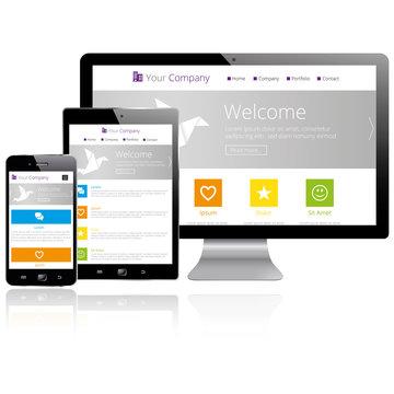 Responsive Web Design - Computer / Tablet / Smartphone