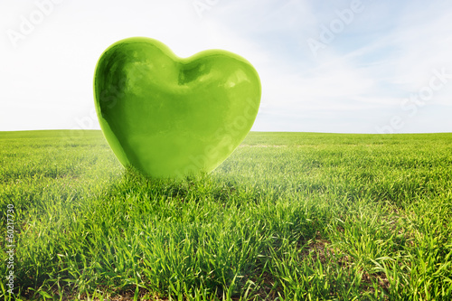 Сердце из зелени  № 1599103 без смс