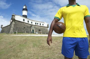 Brazilian Football Player Salvador Lighthouse with Soccer Ball