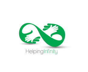Symbol of Helping infinity, isolated vector design