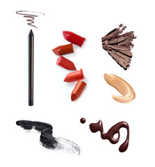 Collection of various make up accessories