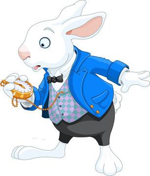 White Rabbit with pocket watch