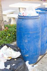 Dirty garbage tanks