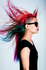 girl movement colour hair magnificent