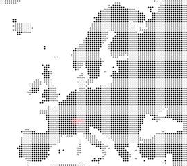 Schweiz - Serie: Pixelkarte Europa
