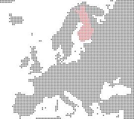 Finnland - Serie: Pixelkarte Europa