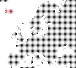 Island - Serie: Pixelkarte Europa