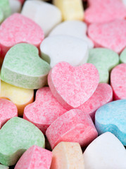 beautiful candy hearts