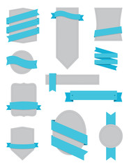 Badges and Ribbons Turquoise