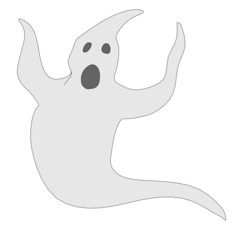 cartoon image of ghost monster