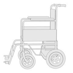 cartoon image of wheel chair