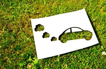 Cut paper, renewable energy concept