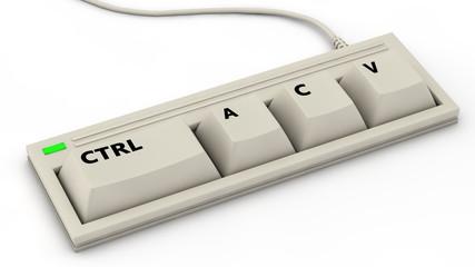 Three Keys Keyboard - CTRL A C V