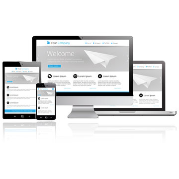 Responsive Web Design - Computer, Laptop, Tablet, Smartphone