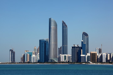 Abu Dhabi Skyline. United Arab Emirates
