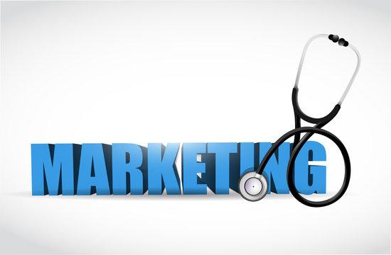 marketing and stethoscope illustration design