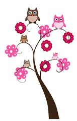 vector owl tree