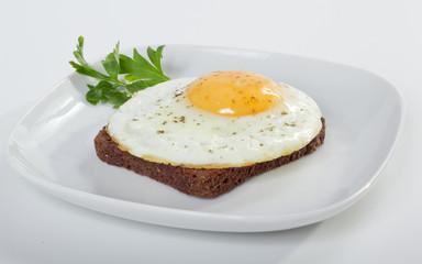 Яичница с хлебом